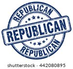 republican. stamp | Shutterstock .eps vector #442080895