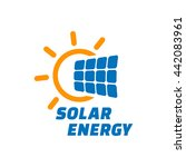 solar energy logo or icon.... | Shutterstock .eps vector #442083961