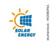 solar energy logo or icon.... | Shutterstock .eps vector #442083961
