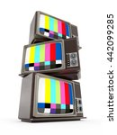 old analogue television stack... | Shutterstock . vector #442099285