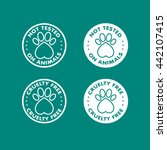 cruelty free   not tested on... | Shutterstock .eps vector #442107415