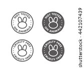 cruelty free   not tested on... | Shutterstock .eps vector #442107439