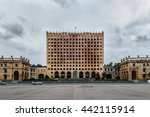 old dilapidated building of...   Shutterstock . vector #442115914