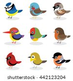 collection of small bird in... | Shutterstock .eps vector #442123204