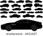 Stock vector vector silhouettes of different types of cars 4421437
