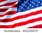 flag of united states.closeup... | Shutterstock . vector #442145479