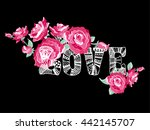abstract drawing for t shirts... | Shutterstock .eps vector #442145707