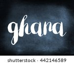 ghana written on a blackboard | Shutterstock . vector #442146589