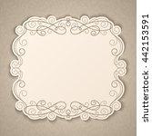 elegant luxury vintage... | Shutterstock . vector #442153591