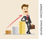 happy businessman or manager... | Shutterstock .eps vector #442153669