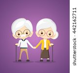 happy grandparents day | Shutterstock . vector #442162711