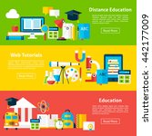 distance education and web...   Shutterstock .eps vector #442177009