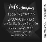 alphabet  hand print  letters ... | Shutterstock .eps vector #442180525
