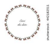 decorative flower frame .... | Shutterstock .eps vector #442182511