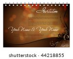 vector invitation card  ... | Shutterstock .eps vector #44218855