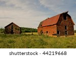 Abandoned Old Barns Surrounded...