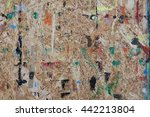 wood stained with paint of... | Shutterstock . vector #442213804