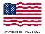 america flag on white background | Shutterstock .eps vector #442214329