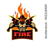 fire fighter | Shutterstock .eps vector #442218409