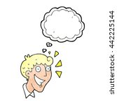 freehand drawn thought bubble... | Shutterstock .eps vector #442225144