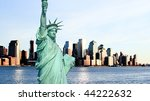 lower manhattan skylines at... | Shutterstock . vector #44222632