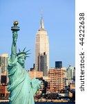 the new york city midtown...   Shutterstock . vector #44222638