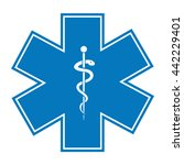 medical symbol of the emergency.... | Shutterstock .eps vector #442229401