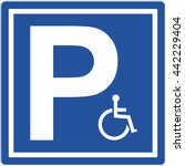 invalid parking sign. vector... | Shutterstock .eps vector #442229404