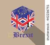 great britain brexit cubic flag | Shutterstock .eps vector #442236751