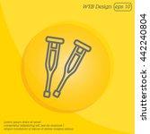 web line icon. crutches | Shutterstock .eps vector #442240804