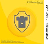 web line icon. shield. | Shutterstock .eps vector #442242655