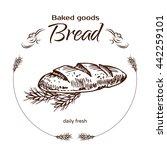 vector design for bakery or... | Shutterstock .eps vector #442259101