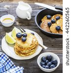 healthy breakfast classic.... | Shutterstock . vector #442260565