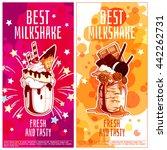 two vertical orientation flyers ... | Shutterstock .eps vector #442262731