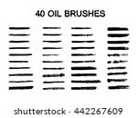 vector set of grunge brush... | Shutterstock .eps vector #442267609