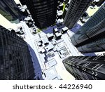 kind of a modern city from the... | Shutterstock . vector #44226940