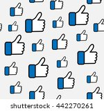 pattern blue button hand like... | Shutterstock .eps vector #442270261