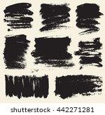 vector set of hand drawn brush... | Shutterstock .eps vector #442271281