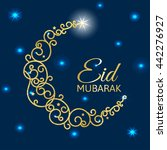 decorative card for eid al adha ... | Shutterstock . vector #442276927