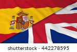 flags of spain and the united... | Shutterstock . vector #442278595