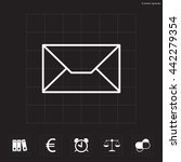 envelope mail icon. email... | Shutterstock .eps vector #442279354