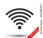 wi fi icon. simple flat logo of ... | Shutterstock .eps vector #442285447