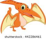 cute pterodactyl cartoon   Shutterstock .eps vector #442286461