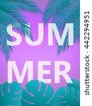 summer poster. summer vector...   Shutterstock .eps vector #442294951