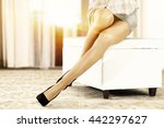 woman on white sofa and woman... | Shutterstock . vector #442297627