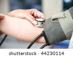 measuring blood pressure | Shutterstock . vector #44230114
