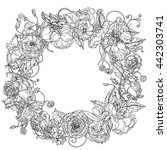 graceful wreath shaped... | Shutterstock .eps vector #442303741