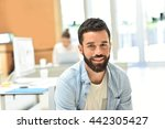 portrait of trendy businessman... | Shutterstock . vector #442305427