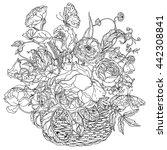 elegant bouquet shaped... | Shutterstock .eps vector #442308841