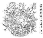 elegant bouquet shaped... | Shutterstock .eps vector #442308889